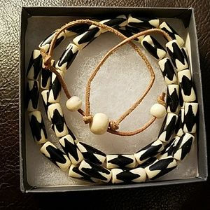 Lucky brand tribal necklace